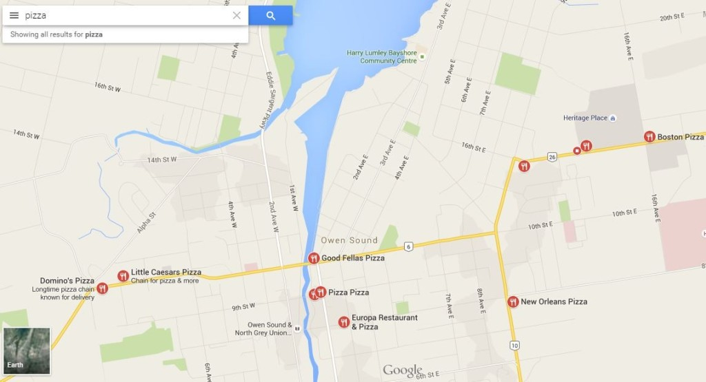 google maps owen sound