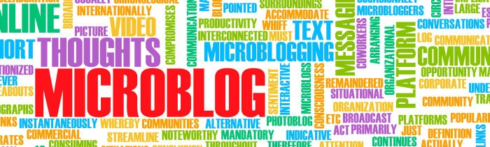 Twitter, Pinterest and Tumblr are microblogs